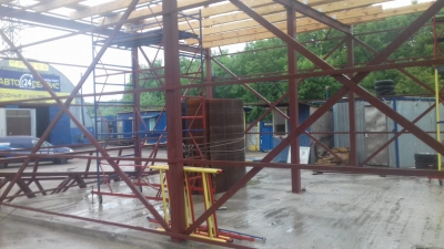 Монтаж металлоконструкции